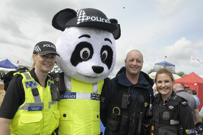 PC Jane Commins, PC Panda, PC Anthony Blow and PC Wanda Graham