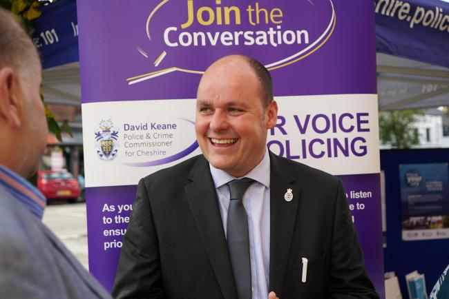 Cheshire crime commissioner David Keane has launched board to tackle bullying