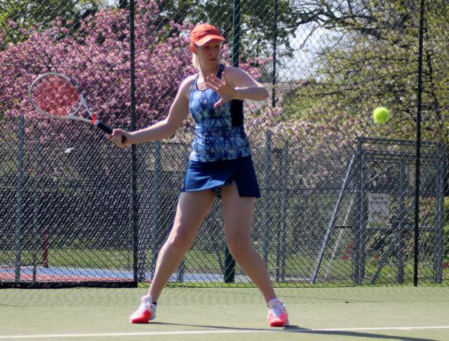 Kathryn Barnett, ladies' teams' co-ordinator at Hartford Tennis Club, is optimistic they can achieve better results this season than in the previous one - which she said was their best yet. Picture: Andrew Moores