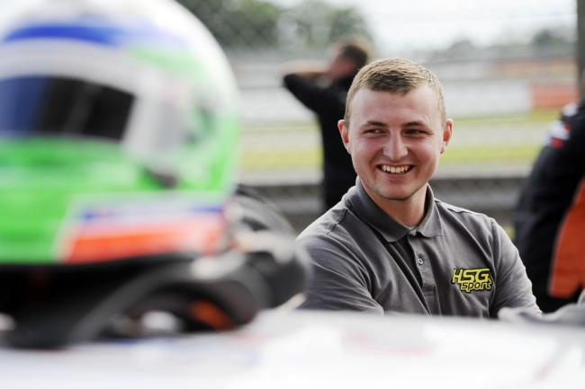 Mark Wakefield had reason to smile after registering a victory during the Volkswagen Racing Cup's third round at Silverstone behind the wheel of his HSG Sport-prepared VW Golf. Picture: Jakob Ebrey Photography