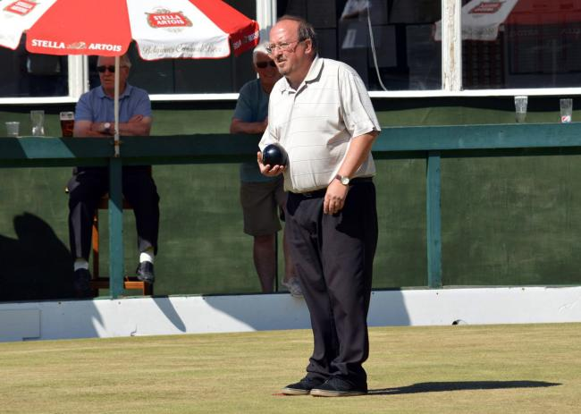 John Gurney, from Castle, is one of four former winners in the Mid-Cheshire Bowling Association's for tomorrow's Cheshire Senior Merit finals day at Winnington Park Recreation Club in Northwich. Picture: Jim McGurk