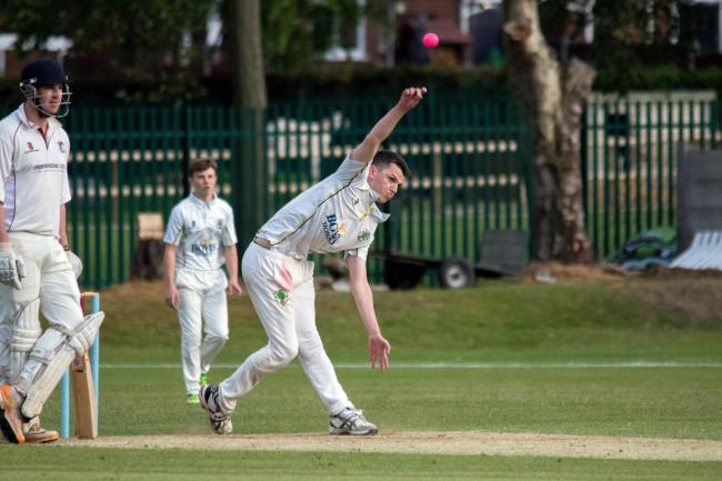 Matthew Howard took three wickets for Oakmere to help them bowl out visitors from Lymm during a Cheshire League Division One fixture at Overdale Lane last weekend. Picture: Rob Hardley