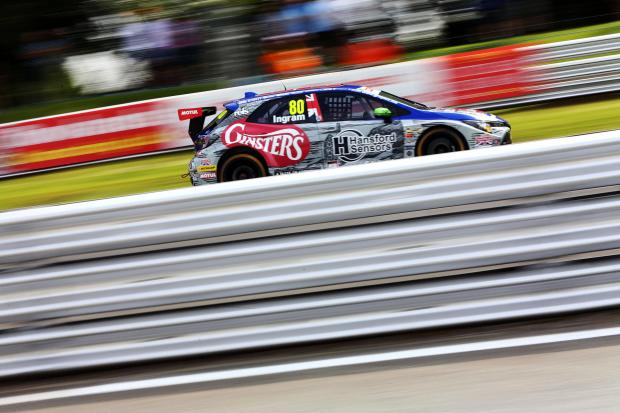 Northwich Guardian: Tom Ingram remained upbeat after an improved showing behind the wheel of Team Toyota GB's Corolla during the British Touring Car Championship round at Oulton Park. Picture: Matt Sayle Photography