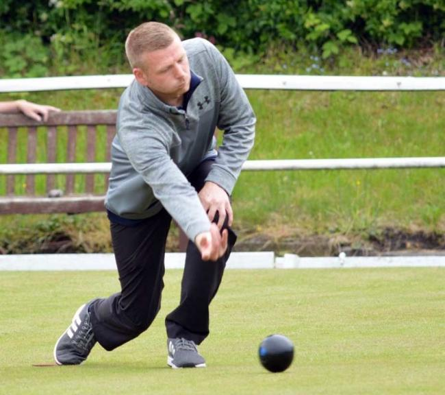 Steve Morrey, who plays for Castle in the Mid-Cheshire Bowling Association, leads Cheshire's challenge for this weekend's British Senior Individual Merit at Rolls Royce Leisure in Derby. Picture: Jim McGurk