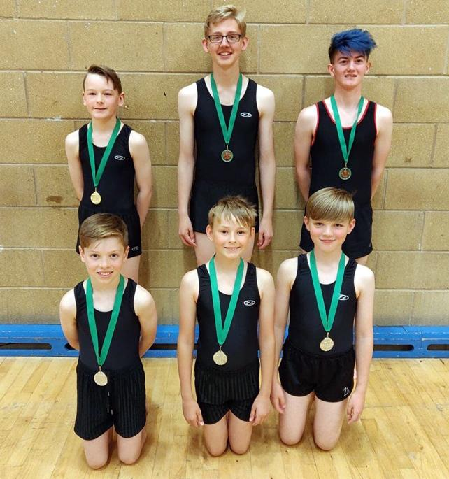 Hartford School of Gymnastics sent six boys to contest the North West Two Piece Championships at Wigan last weekend and they all returned with a medal for their performances