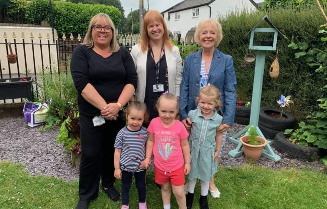 Helen Walters, Pre School Manager, Fiona Whittaker, Executive Headteacher at Weaverham Primary Academy and Jenny Marshall, Pre School Chair of Trustees.