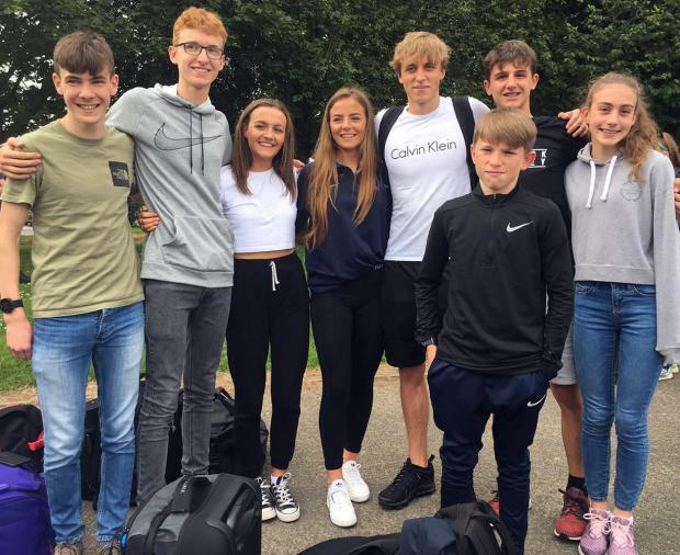 Northwich Guardian: Vale Royal Athletics Club's eight-strong contingent in Cheshire's team for the English Schools' Track and Field Championships at Alexander Stadium in Birmingham this weekend. Picture: Vale Royal AC/Facebook