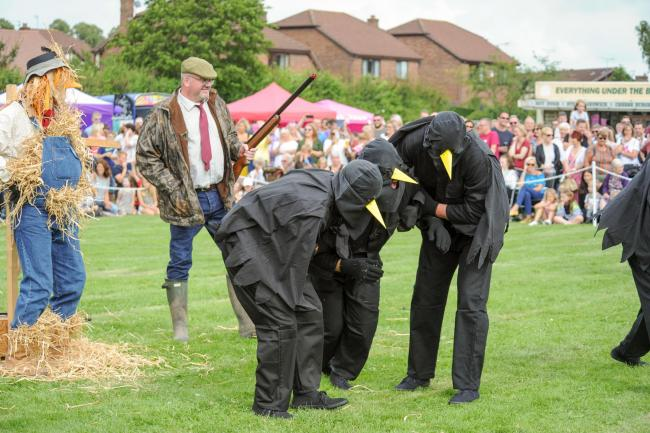 The mysterious Moulton Crows' dance includes characters such as Scarecrow and the farmer