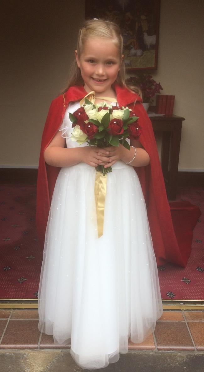 Hannah Green, seven, was crowned queen at Lostock Green Methodist Church summer fete