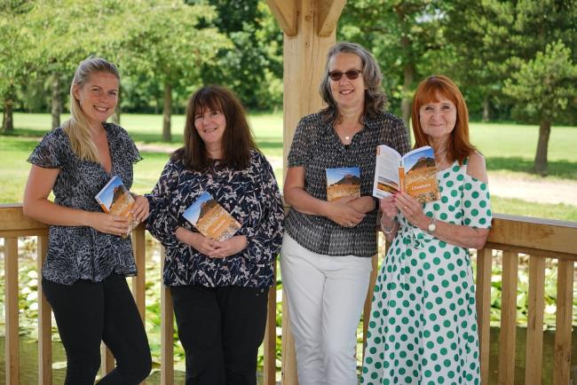 Guest at the event Stephanie Cheadle with authors Suzanne King and Kate Simon and Sue France from Creative Connecting in Cheshire.