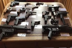 Picture shows firearms handed in during previous amnesty