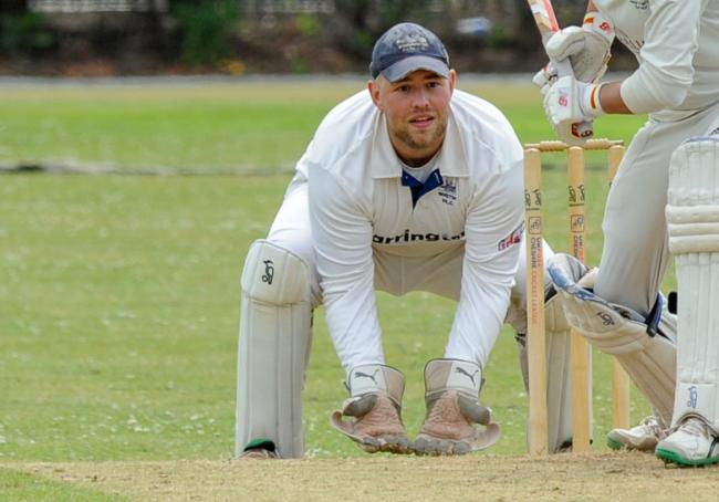 Alec Butcher, the Winnington Park captain and wicket keeper, who stumped two opponents and caught out two more. Picture: Simon Warburton