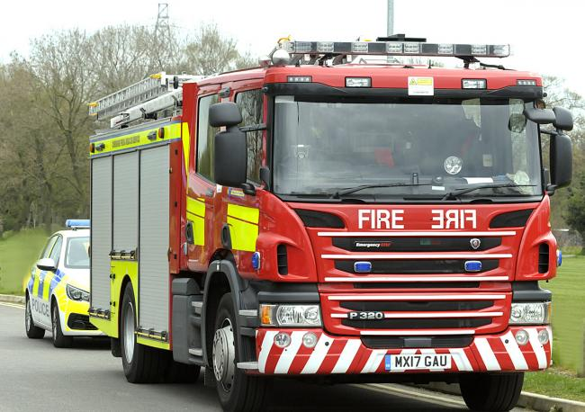 Three fire engines attended the house fire on Hillside Lane