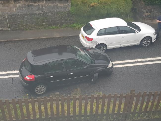 Crash in Runcorn Road, Barnton. Photo: Dave Jeffery