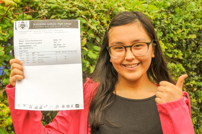 St. Nicholas Catholic High School A-Level results. Natalie Slatford gained two A*s