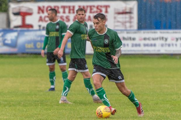 Two goals for Jake Parker in 1874's 5-0 win at Charnock Richard. Stock picture by Ian Dutton