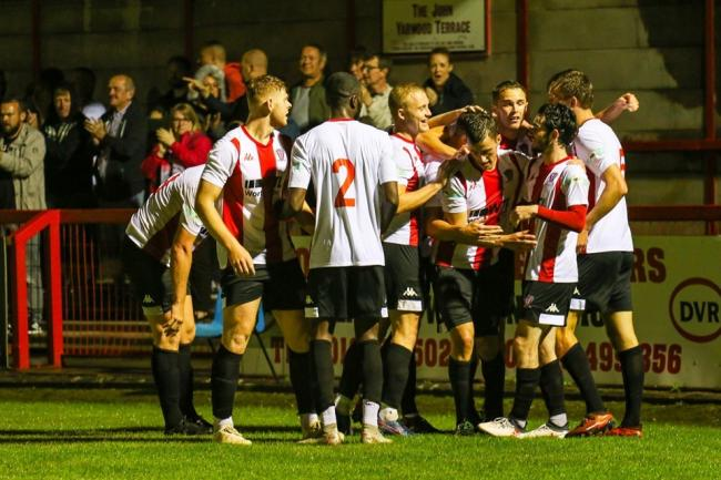 Witton Albion Football Club crowd celebration. Picture: Karl Brooks Photography