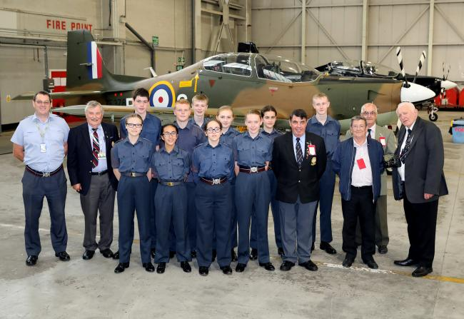 Royal Air Forces Association Northwich branch members and cadets