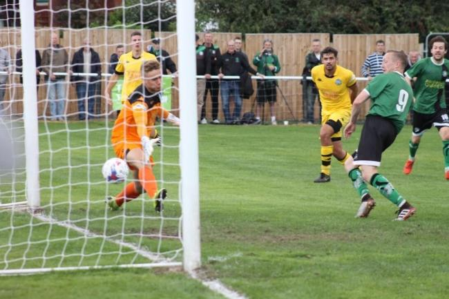 1874 Northwich knocked out higher-league opposition in Pickering Town to set up tomorrow's clash with Whitby. Picture by Frank Oakes