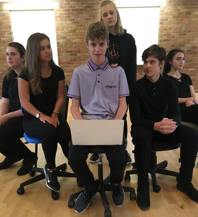 The cast of Kingsley Players Youth Theatre's 'Chatroom' production