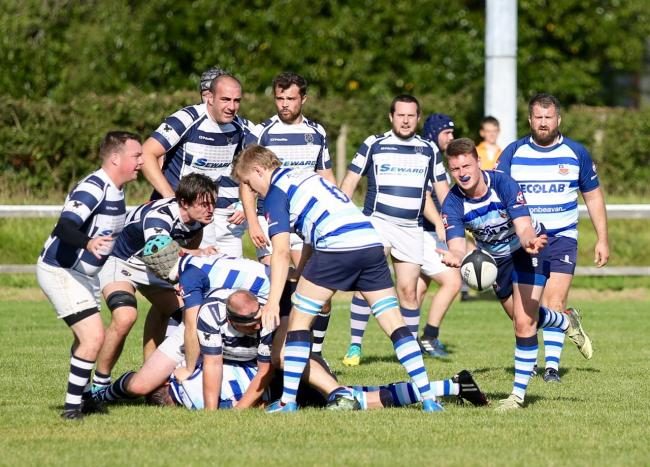 Dan Berg in distribution mode for Winnington Park against Eccles on Saturday. Picture: John Pickering