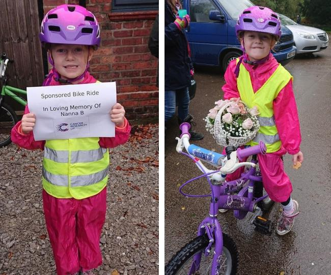 Emilia decided to support Cancer Research UK with the bike ride