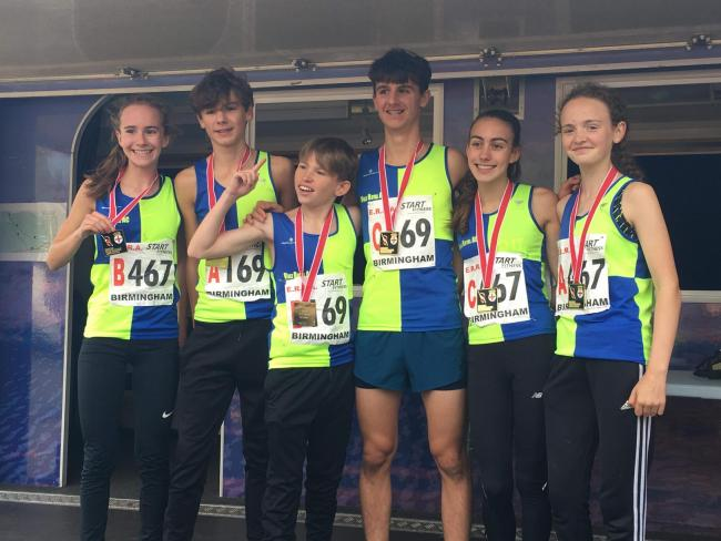 Vale Royal's Grace Roberts, Dylan Carney, Jake Wilson, Patrick Griffith, Holly Weedall and Hope Smith