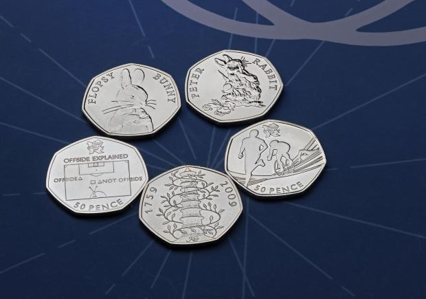 Northwich Guardian: The rarest 50p coins. Credit: Royal Mint/PA Wire