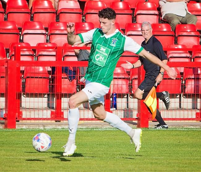 Saul Henderson, who netted the opener for Northwich Victoria. Picture: Angela Buckley