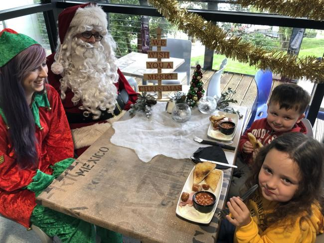 Breakfast with Santa at the Anderton Boat Lift
