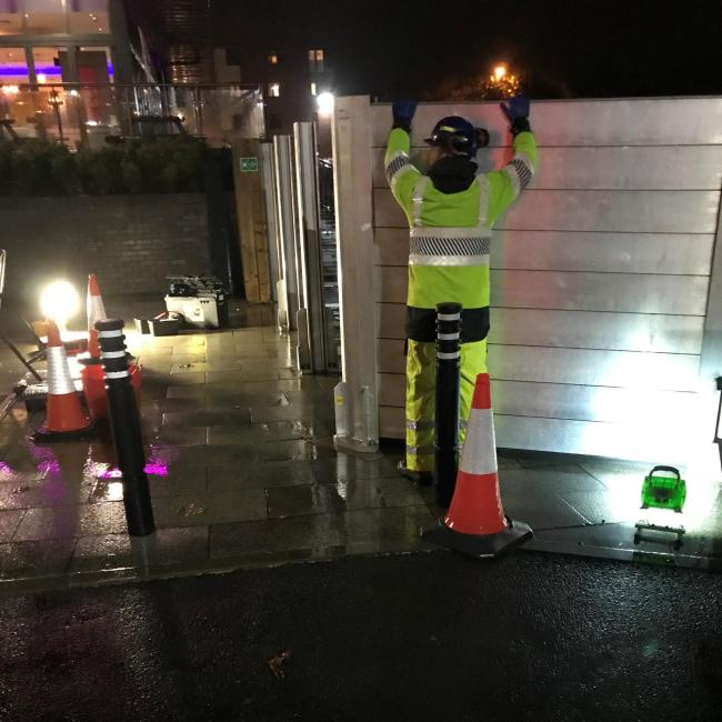 Flood alert as heavy rain sees barriers go up