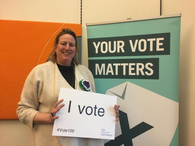 Eddisbury MP Antoinette Sandbach celebrates 100 years since women were given the right to vote