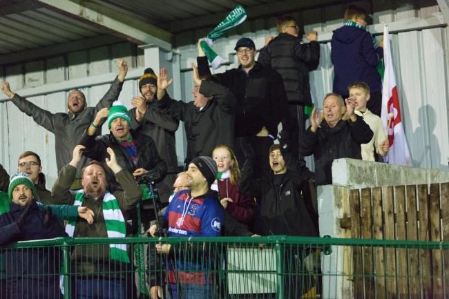 Northwich Victoria fans at Avro at the weekend. Picture: Angela Buckley