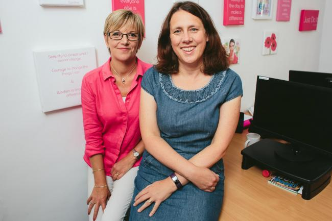 Friends Caroline Gowing and Vicky Matthews set up Pink Spaghetti PA services in 2009