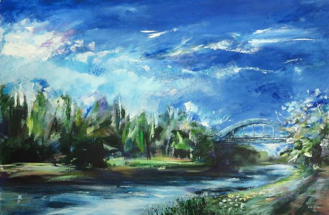 Spring Morning Along the River Weaver, by Melissa Lewis