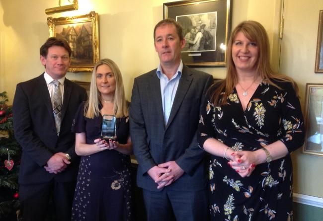 Robert Gore (Mosshaselhurst), Jade Hargreaves, Chris Smith (Howard Worth), and Claire Morley (NatWest)