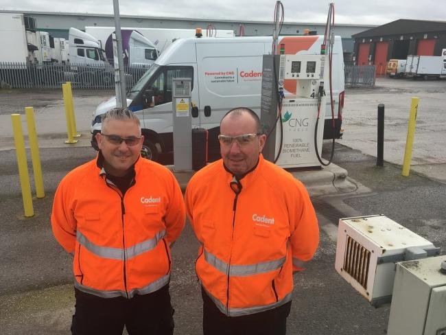 John McGuire and Darren Jackson, at the CNG Fuels filling station near Crewe railway station