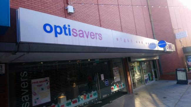 Optisavers on Leicester Street has closed after more than 25 years in the town centre