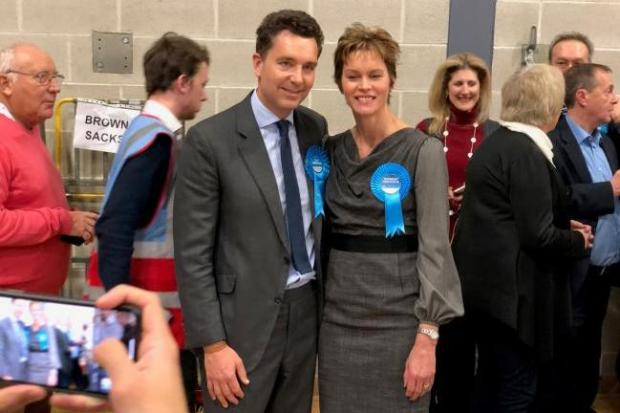 Edward Timpson with his wife Julia