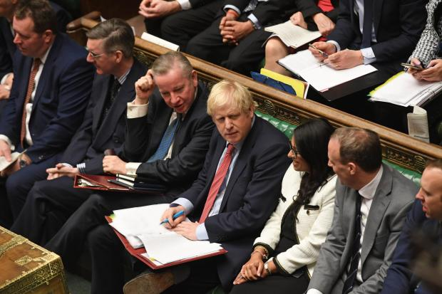The Prime Minister and frontbench colleagues in the House of Commons