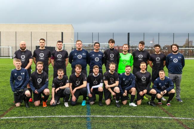 Heart Warriors charity football team, who have set about finding other ways of raising money for Ronald McDonald House while matches are off limits