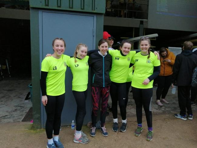 Northwich Rowing Club women's J14 quad who finished second on their debut! From left, Olivia black, Libby Pritchard, Rhian Dobson (cox), Nat Webster, Olivia Manford