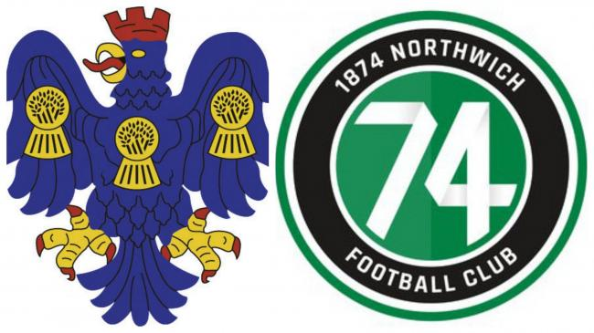 Northwich Victoria and 1874 Northwich badges