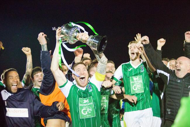 Northwich Victoria are focused on retaining the Mid-Cheshire Senior Cup they won last year. Picture: Angela Buckley