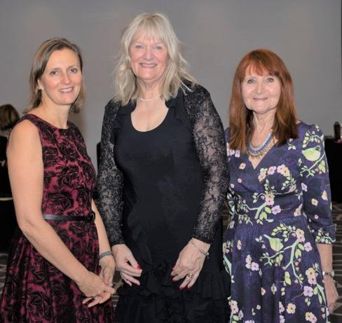 Kirsty James, Tricia Peters and Sue France
