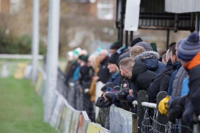 1874 Northwich fans. Picture: Frank Oakes