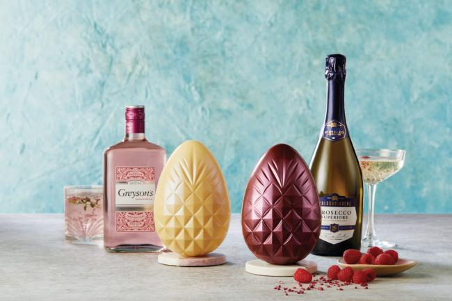 Most unusual easter eggs revealed - including a Gin and Prosecco-infused one. Picture: Aldi