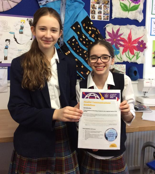 Cransley pupils Amelie Bett and Rachel Hansford are looking forward to the finals later this year
