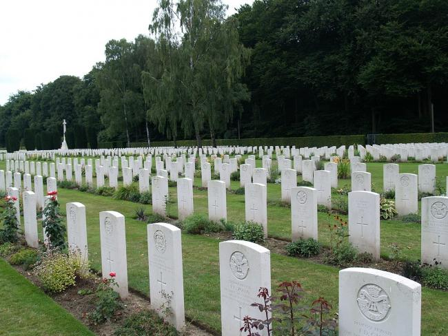 The cemetery at Reichswald Forest