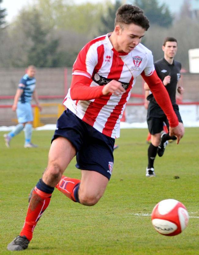 Scott Bakkor during his first spell with Witton Albion, 2013 to 2014